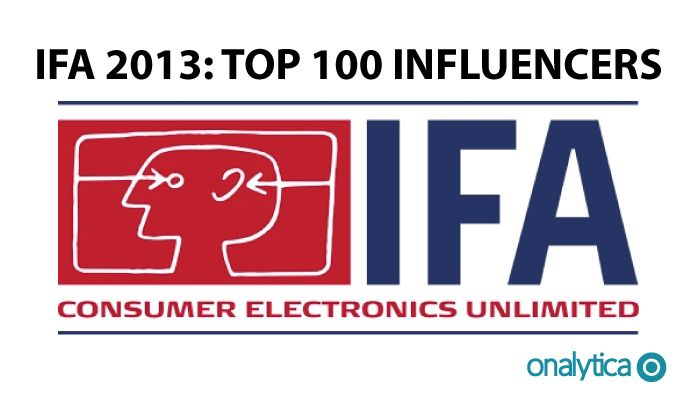 Onalytica - IFA 2013 Top 100 Influencers