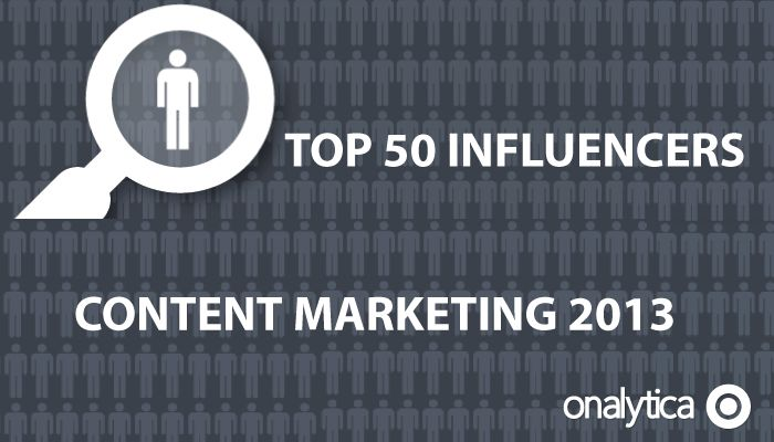 Onalytica - Top 50 Influencers on Content Marketing