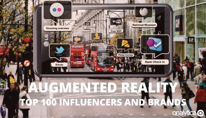 Onalytica - Augmented Reality Top 100 Influencers and Brands